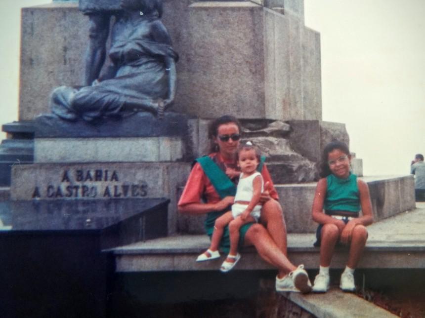 Eu, minha mãe e Thaís em 91